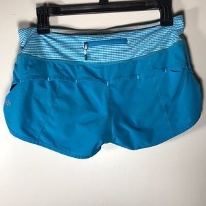 Lululemon Speed Run Shorts workout blue 6